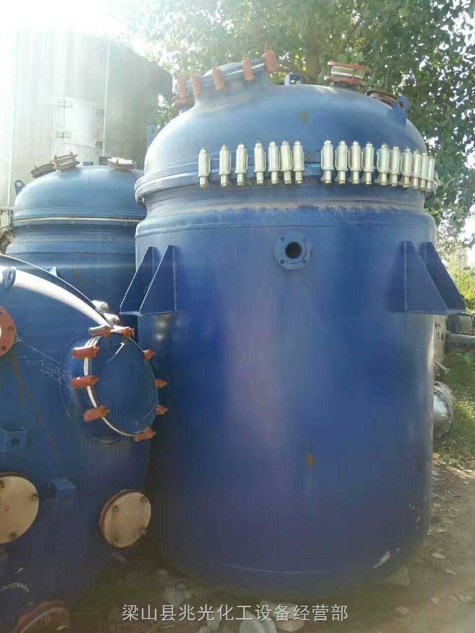 转让二手化工设备 5立方搪瓷反应釜