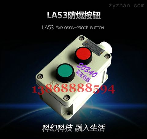 LA53-3防爆按钮盒 防爆电机控制按钮 防爆风机按钮开关