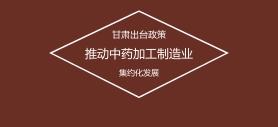 甘肃出台政策 推动中药加工制造业集约化发展